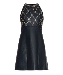Erdem | Hudson Beaded Leather Mini Dress
