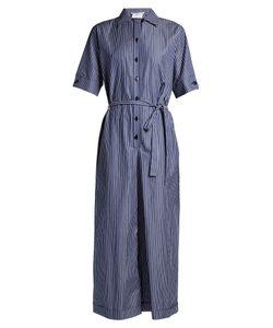 Stella McCartney | Striped Wide-Leg Cropped Jumpsuit