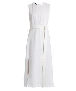 Calvin Klein Collection   Lapis Panelled Cotton Dress