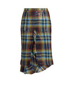 Marco de Vincenzo | Ruffled Tartan Skirt