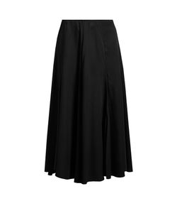 Khaite | Marion Crepe-Back Satin Midi Skirt