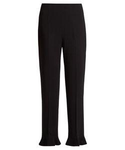 Altuzarra | Ruffled-Hem Cropped Trousers