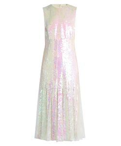 Christopher Kane   Tulle-Insert Sequinned Midi Dress