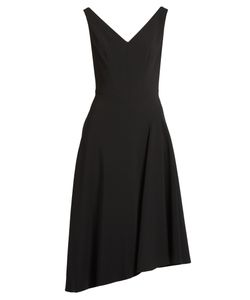Osman | Elizabeth Asymmetric-Hem Crepe Dress