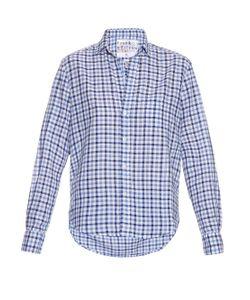 Frank & Eileen   Eileen Gingham Cotton-Chambray Shirt