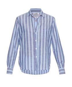 Frank & Eileen   Eileen Striped Cotton-Chambray Shirt