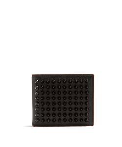 CHRISTIAN LOUBOUTIN   Kaspero Spike-Embellished Leather Wallet