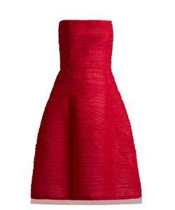 Oscar de la Renta   Pleated Silk-Organza Dress