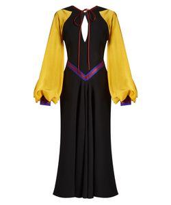 Roksanda | Cymbeline Contrast-Sleeve Double-Georgette Dress