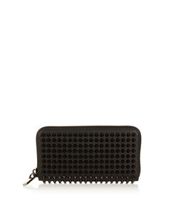 CHRISTIAN LOUBOUTIN   Panettone Spike-Embellished Leather Wallet