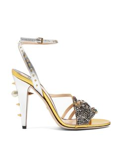 Gucci | Wangy Embellished Leather Sandals