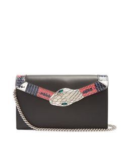 Gucci | Lilith Mini Snakeskin-Trimmed Leather Shoulder Bag
