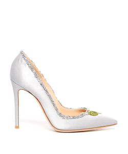 Gianvito Rossi | Olive Crystal-Embellished Satin Pumps