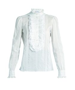 Bella Freud   Brian Jones Cotton And Silk-Blend Blouse