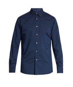 Ermenegildo Zegna | Geometric-Print Cotton Shirt