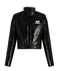 Courrèges | Stand-Collar Faux Patent-Leather Jacket
