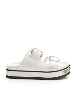 Alexander McQueen | Double-Strap Leather Flatform Sandals
