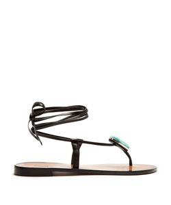Kalmar | Stone-Embellished Leather Sandals