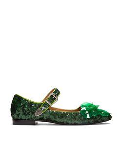 Toga | Sequin Square-Toe Embellished Ballet Flats
