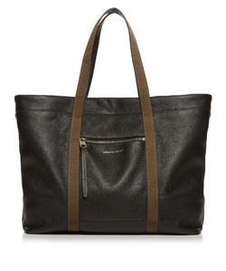 Alexander McQueen | Contrast-Strap Leather Tote