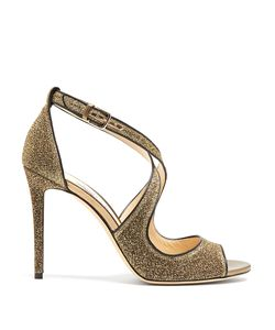 Jimmy Choo | Emily 100mm Glitter Sandals