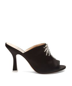 ATTICO | Pamela Crystal-Embellished Satin Mules