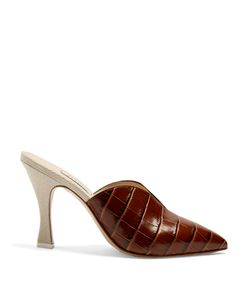 ATTICO | Monica Point-Toe Leather And Canvas Mules