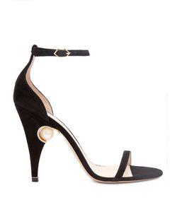 Nicholas Kirkwood | Penelope Pearl-Embellished Suede Sandals