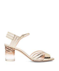 Nicholas Kirkwood | Zaha Perspex-Heel Leather Sandals