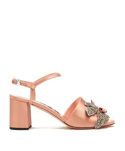 Rochas | Crystal-Embellished Satin Sandals