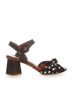 Dolce & Gabbana | Polka-Dot Print Knotted-Front Sandals