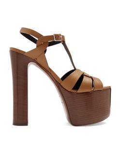 Saint Laurent | Betty Leather Platform Sandals