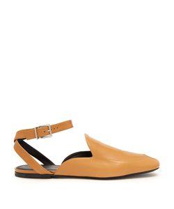 Jil Sander   Backless Leather Loafers