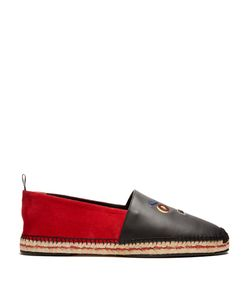 Fendi | Faces Suede And Leather Espadrilles