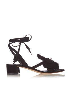 OLGANA PARIS | Dahliadetail Suede Block-Heel Sandals