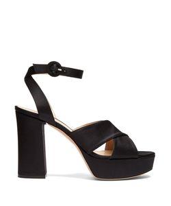 Gianvito Rossi | Block-Heel Platform Satin Sandals