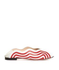 Fendi | Wave Foldable-Heel Leather Flats