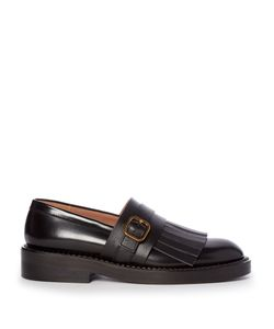 Marni   Fringed Leather Loafers