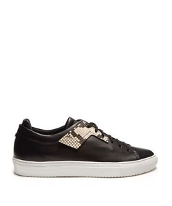 Oamc | Patch Low-Top Leather Trainers