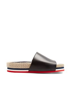 Moncler | Evelyne Leather Espadrille Slides