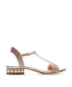 Nicholas Kirkwood | Casati Pearl-Heeled Lamé Sandals