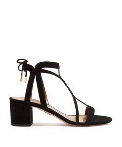 Aquazzura | Fiji Block-Heel Suede Sandals