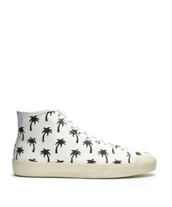 Saint Laurent | Court Classic High-Top Canvas Trainers