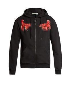 Off-White | Scorpion Cotton-Jersey Hooded Sweatshirt