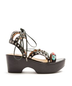 Toga | Polido Lace-Up Wedge Sandals