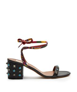 Valentino | Rockstud Rolling Leather Sandals