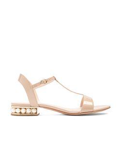 Nicholas Kirkwood | Casati Pearl-Heeled Patent-Leather Sandals