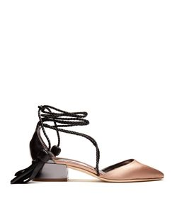 Jimmy Choo | Duchess-Satin And Leather Sandals