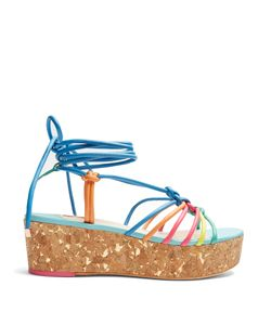 Sophia Webster | Copacabana Leather Flatform Sandals