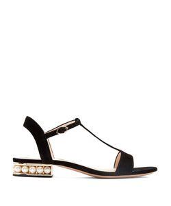 Nicholas Kirkwood | Casati Pearl-Heeled Suede Sandals